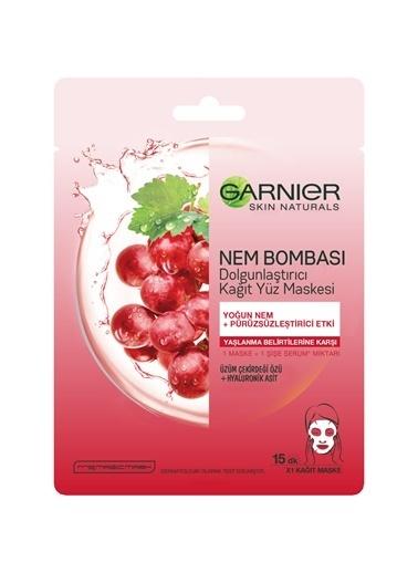 Garnier Garnier Nem Bombası Dolgunlaştırıcı Renksiz Kadın Kağıt Yüz Maskesi Renksiz